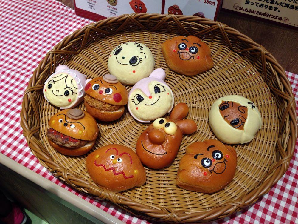 カレーパンマン、ドキンちゃん、赤ちゃんマン、ハンバーガーキット、クリームパンダ、ロールパンナ